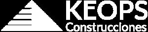 Logo Keops Construcciones en blanco